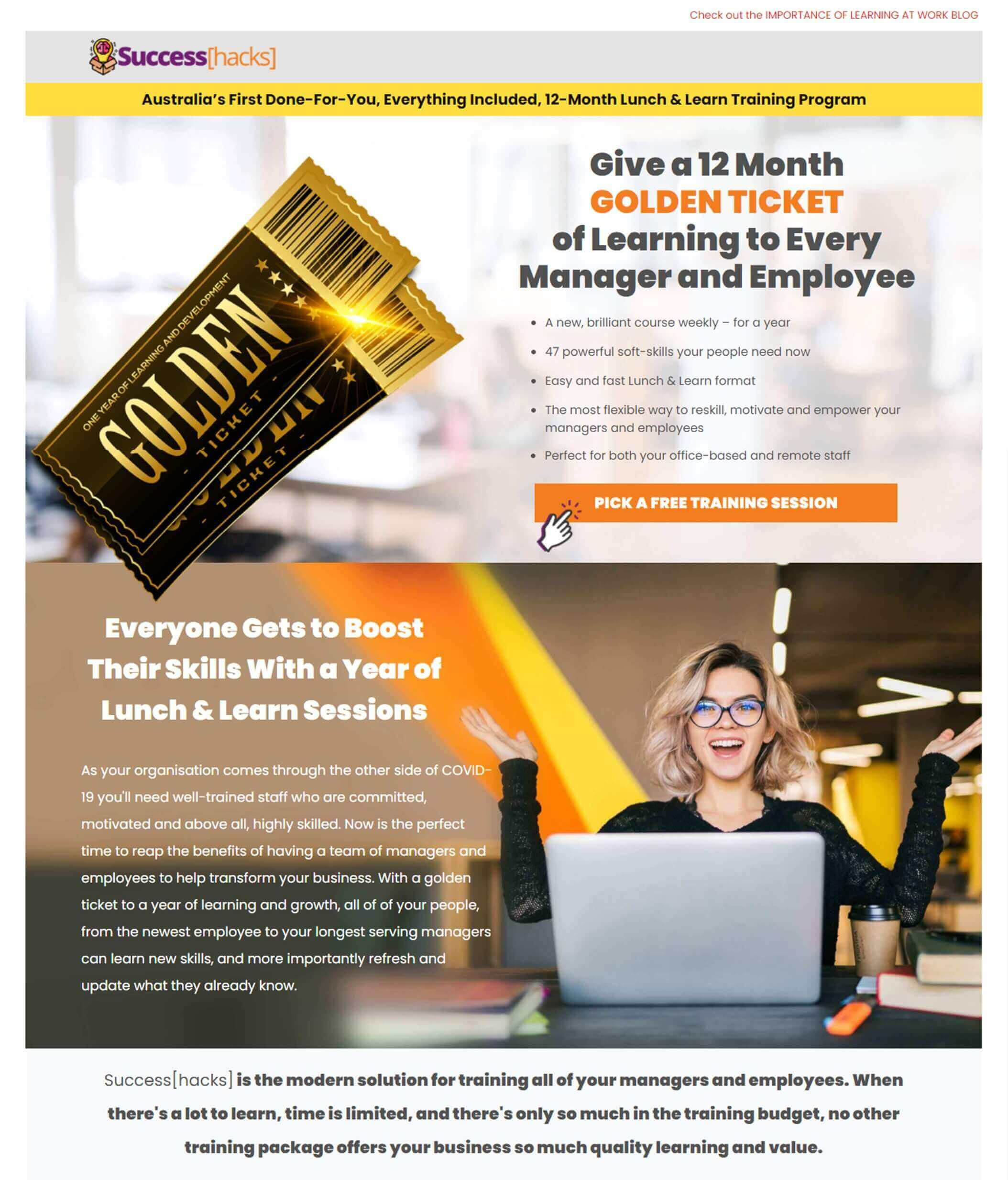 homepage lunch and learn training success institute australia